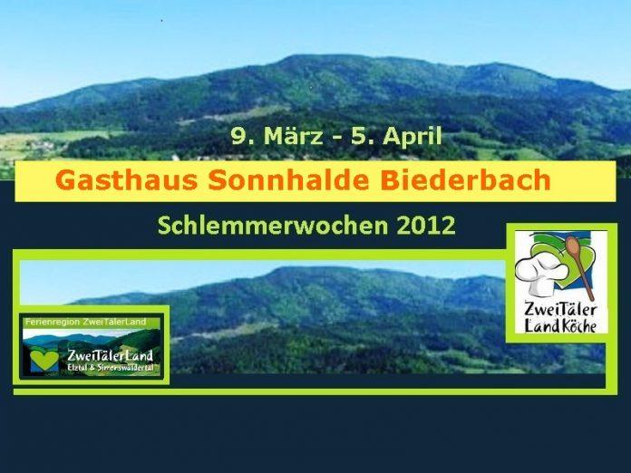 Sonnhalde Biederbach, Schlemmerwochen 2012, Menü,