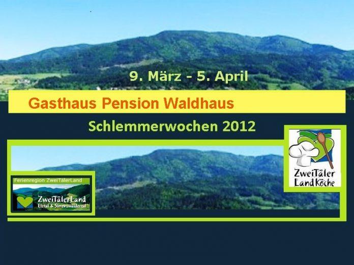 Waldhaus Kollnau,Schlemmerwochen 2012, Menü,
