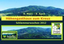 Höhengasthaus zum Kreuz Biederbach,Schlemmerwochen 2012, Menü,