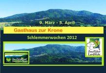 Gasthaus zur Krone Elzach, Schlemmerwochen 2012, Zweitälerland,