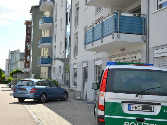 Mord in Freiburg-Rieselfeld. Foto: Bernd Schiel