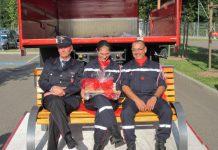 Einladung, 200 Jahr Feier, Waldkirch, Feuerwehr, Selestat, Frankreich, 14.7.2012