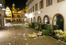 Freiburg, Müll, Jugendliche, alkohol, Polizei, verhaftet