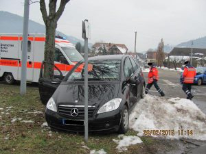 Polizeibericht, Waldkirch, Bleibach, Unfall Schießbrückle2