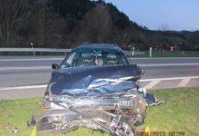 unfall auf der B294 Waldkirch Gutach Stollen, wendemanöver, 2 Personen schwer verletzt