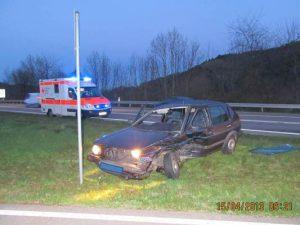 unfall auf der B294 zwischen gutach und waldkirch, 2 personen schwer verletzt