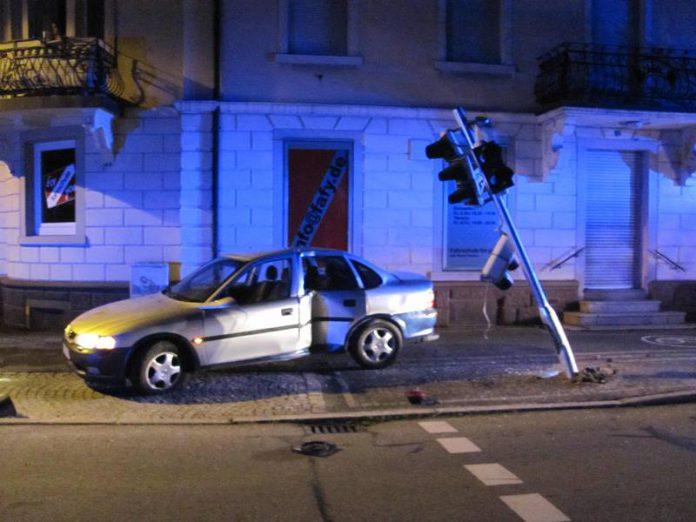 Unfall in Kollnau am Rathausplatz. Foto: Polizei