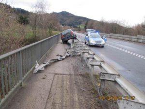 polizeibericht waldkirch unfall auf der b294