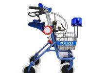 Freiburg Polizei mit dem Segway auf Streife