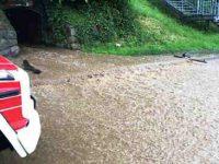 Waldkirch: Unwetter, Hochwasser - erste Meldung der Polizei