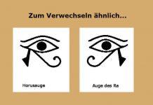 eye of horus, horusauge und auge des Ra