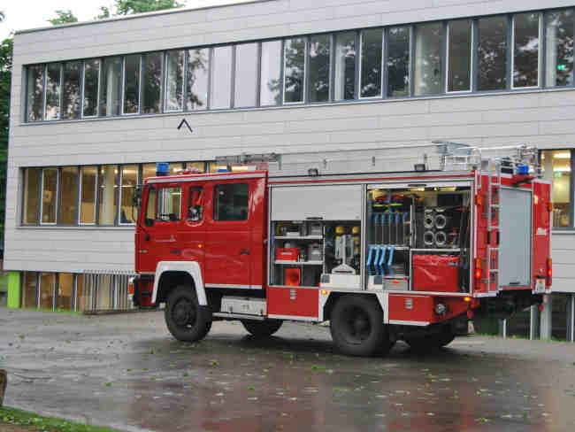 Hochwasser in Waldkirch Kollnau, Gebäude und Straßen überflutet