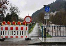 hochwasser waldkirch elz straßensperrungen
